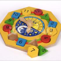 Reloj con Figuras Geométricas