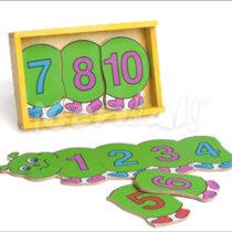 RC Gusano con números 1 al 10